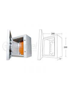 ARMARIO METALICO 200X200X150 IP66 COLOR RAL7035 110221534 FNX