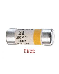 FUSIBLE SIN INDICADOR 8,5X23MM  2A/250VAC 1130204 LEGRAND
