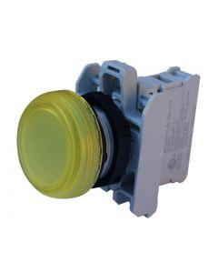 PILOTO ARMADO LED AMARILLO 85 A 140VCA/CC, SERIE PLASTICA 12718472 LOVATO