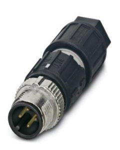 CONECTOR M12 MACHO 4 POLOS TIPO/A RECTO 125V/4A SPEEDCON CON/MOLTEADO/METALICO 152157594 PHOENIX CONTACT