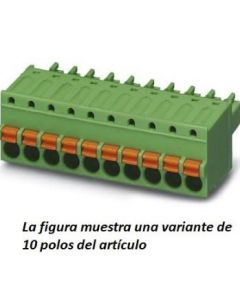 CONECTOR MINI 5/POLOS PASO/3,81MM PARA/CABLES/PUSH-IN 6A 1,5MM2 VERDE 185107094 PHOENIX CONTACT