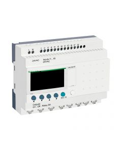 ZELIO 12E/8S RELE C/RELOJ 24VAC C/PANT 208800059 SCHNEIDER ELECTRIC