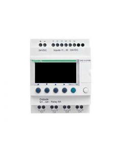 ZELIO 6E/4S RELE S/RELOJ 24VCC C/PANT 208804259 SCHNEIDER ELECTRIC