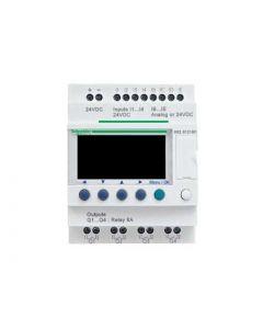 ZELIO 8E/4S RELE C/RELOJ 24VCC C/PANT 208804359 SCHNEIDER ELECTRIC