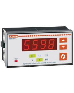 AMPERIMETRO DIGITAL TRIFASICO EMPOTRABLE 96x48mm, CON RELE DE SALIDA, LOVATO DMK11R1 208924972 LOVATO