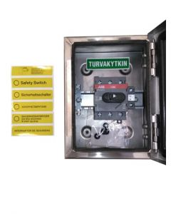 INTERRUPTOR DE SEGURIDAD 3X30A  400V 15KW IP65 A/INOXIDABLE 226133985 ABB