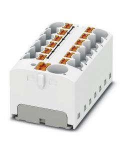 REPARTIDOR HORIZONTAL CON/ADHESIVO 13/CONEXIONES 32A/4MM2 46x22x28MM BLANCO CONEXION/PUSH-IN 327402294 PHOENIX CONTACT
