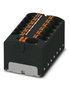 REPARTIDOR CON/ADHESIVO 13/CONEXIONES (CON ALIMENTADOR) 32A/4MM2 46x22x28MM NEGRO CONEXION/PUSH-IN 327402494 PHOENIX CONTACT