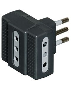ADAPTADOR TRIPLE ESTANDAR 10A COLOR GRIS 36035202 BTICINO