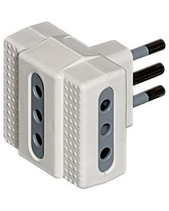 ADAPTADOR TRIPLE ESTANDAR 10A COLOR BLANCO 36035402 BTICINO