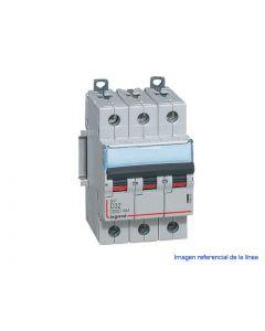 INTERRUPTOR MAGNETOTERMICO DX3 6000 CURVA D 10 KA TRIPOLAR 40809204 LEGRAND