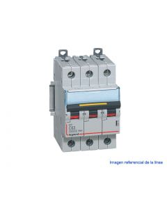INTERRUPTOR MAGNETOTERMICO DX3 10000 CURVA C 16 KA  TRIPOLAR 40925704 LEGRAND