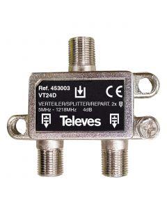 REPARTIDOR 5-1218MHZ F 2D 4DB INTERIOR 453003146 TELEVES