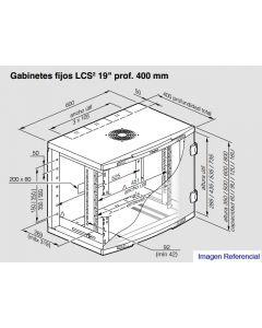 LCS2 - GABINETE 19 FIJO 6U 660X400 4620004 LEGRAND