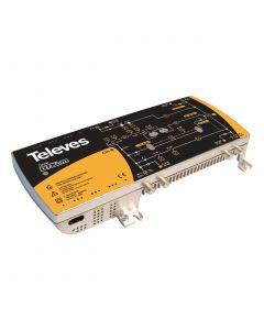 AMPLIFICADOR DTKOM DOBLE TRONCAL 2E/2S (RET+MATV+2FI) CONECTOR F (5-30/47-862/950-2150Mhz) 5337146 TELEVES