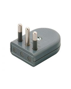ENCHUFE MACHO CONVERTIBLE 10A 2P+T - GRIS 56702203 SCHNEIDER ELECTRIC