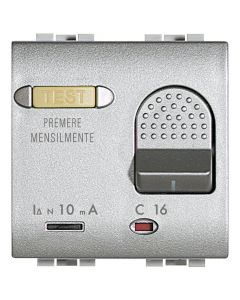 DIFERENCIAL 2 MODULOS 16A MONTAJE PLACA LIVINGLIGHT COLOR TECH NT43052108 BTICINO